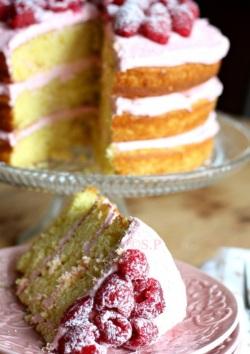 gâteau mousseline framboises (3)